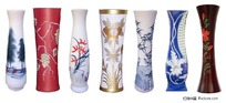 各类陶瓷花瓶psd素材