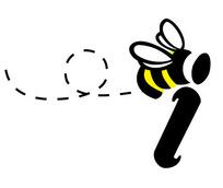 蜜蜂图案英文字母LOGO设计