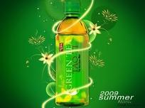绿茶广告宣传画