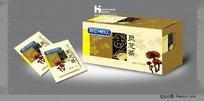 灵芝茶包装盒效果图