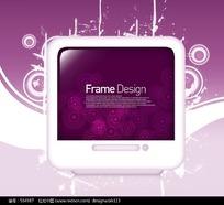 IT显示屏标题框花纹元素