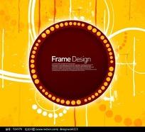 黄色标题框花纹元素