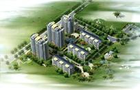 房地产项目鸟瞰效果图