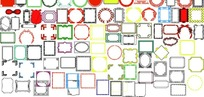 相框边框画框PSD分层素材