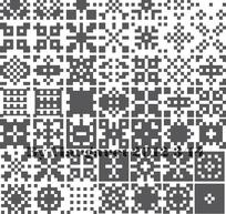 像素方格对称纹样