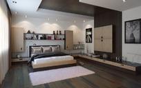 卧室模型(含贴图、灯光)