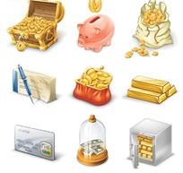 银行卡通图标矢量素材