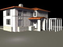 3D建筑模型 别墅
