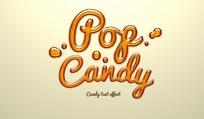 创意橙色水珠字体PSD分层素材