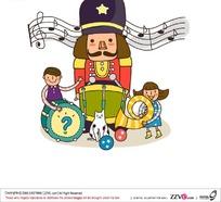 儿童卡通音乐学校