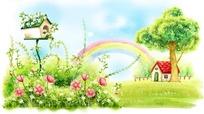 儿童幻想幸福田园生活