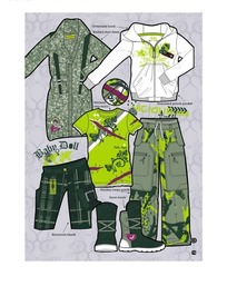 时尚休闲服装矢量图