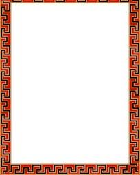 传统纹样二方连续边框底纹素材