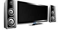 电视机和音响设备矢量素材