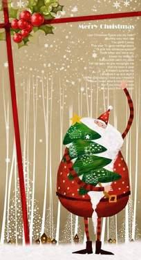 手工做的圣诞老人卡片设计