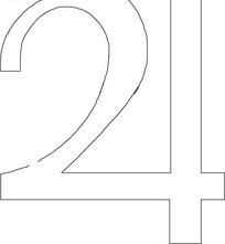 矢量阿拉伯数字创意图形