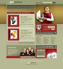 欧美软件销售网页模板
