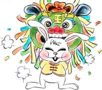 兔年卡通年画
