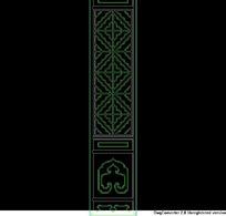 中式菱形花纹隔扇门CAD