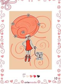 宝贝公主小狗花纹图案