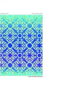 复杂纹样的方块和简单方块构成的图案