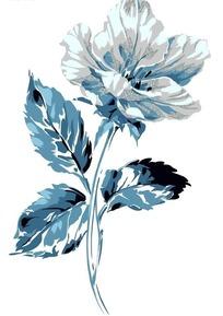 一支蓝色银色亮粉创意花卉PSD