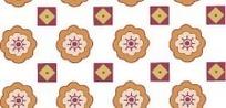 八瓣花与方块四方连续图案