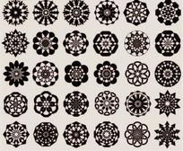 各种剪纸花纹
