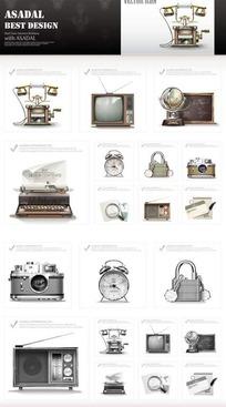 办公室用品网页图标素材