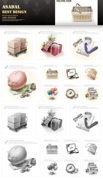 礼品网页图标素材
