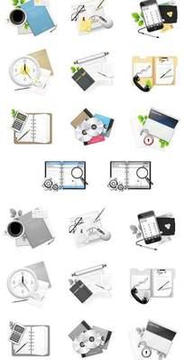 彩色黑白对比网页图标素材下载