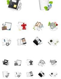 彩色黑白网页图标素材图片下载