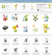人物系列网页图标素材下载