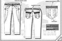 服装设计牛仔裤结构详图