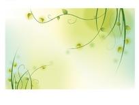 浅绿色背景上的卷草图案
