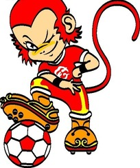 猴子动漫形象logo