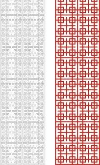 红色中式四方连续图案窗格镂空花纹
