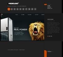 欧美电器网页广告设计模版