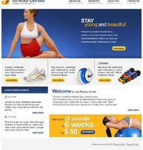 欧美健身机构网站设计源码