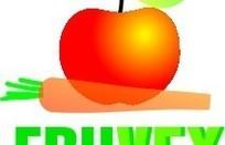 苹果胡萝卜绿色英文字标志设计
