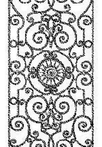欧式镂空花纹窗格图案