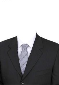 黑西服浅灰条纹领带换脸模板
