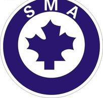 蓝色圆形SMA枫叶标志CDR文件