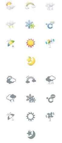矢量天气卡通图标