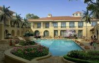 花园别墅建筑效果图PSD分层素材