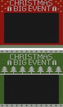 毛衣纹路圣诞节红绿图案AI矢量文件
