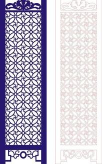 中式深蓝色调四方连续图案门户设计模板