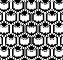 五边形四方连续图案设计