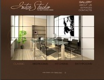 餐厅设计网页模板