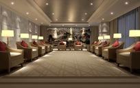 长方形会客室3ds模型